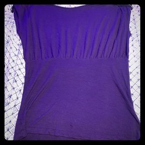 Miley Cyrus Max azaria shirt purple with zippers